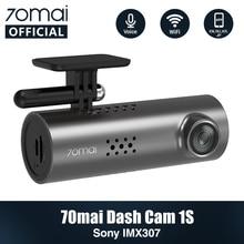 70mai Car DVR 1S APP& English Voice Control 70 Mai Dash Cam 1S 1080HD Night Vision 130FOV Free Wifi 70mai Car Recorder 1S Auto