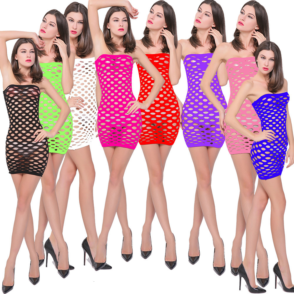 Fishnet Underwear Elasticity Cotton Sexy Lingerie Hot Mesh Baby Doll Dress Erotic Lingerie For Women Sex Costumes Tt060