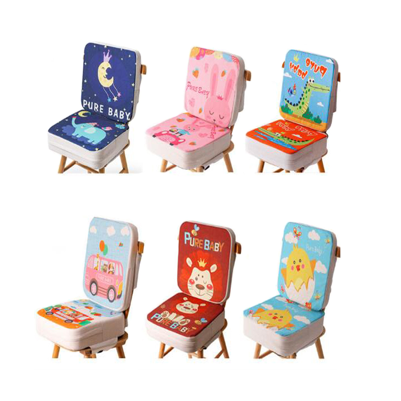 Baby Portable Booster Seat Children Soft Leather Cushion Pad Safety Chair Booster Chair Cover Pad Baby Kid Dining Seat