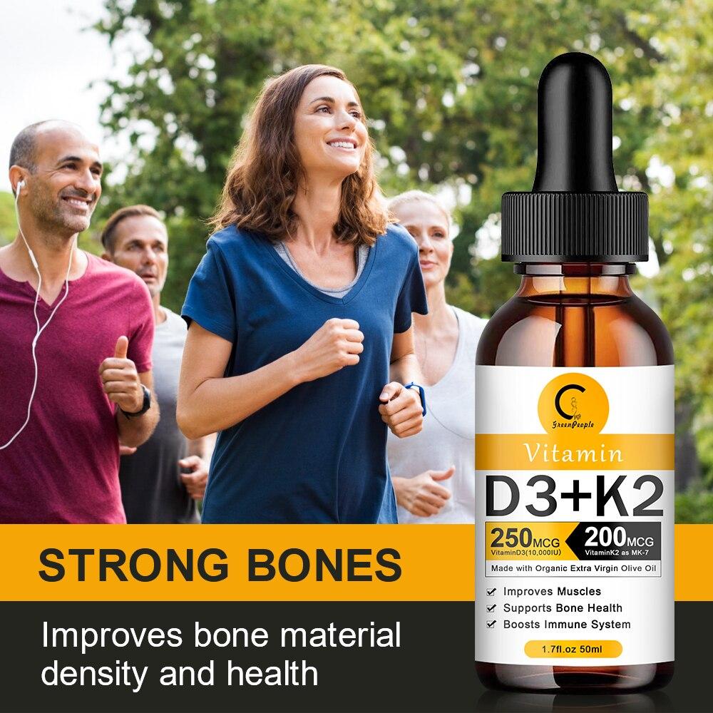 Organic Vitamin D3 K2 Liquid Drops Vegan Essential Supplements Nutro Vegan 5