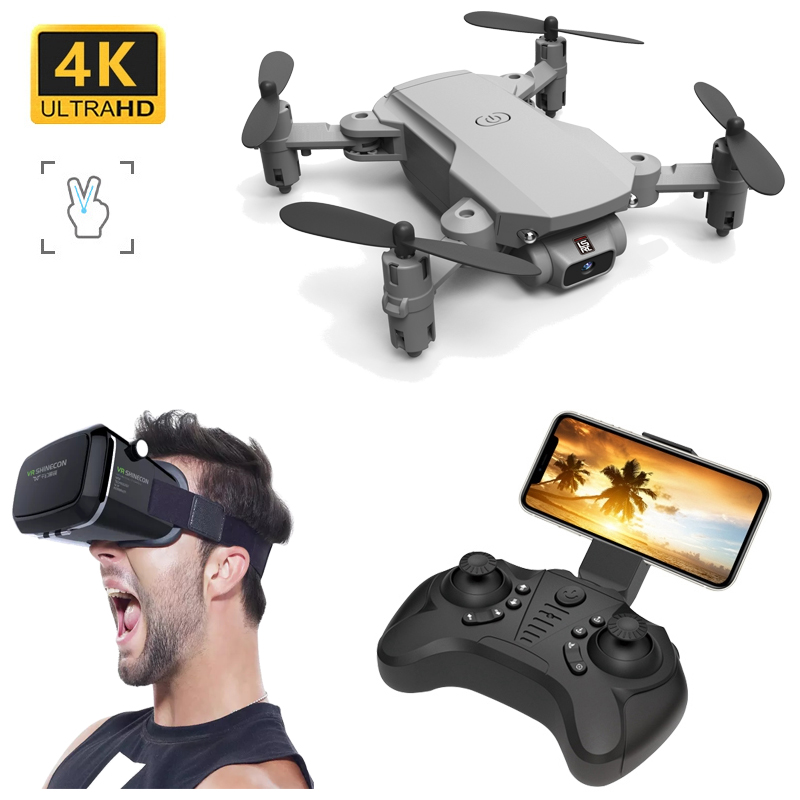 Mini 4K Drones With Camera Hd Profissional Rc Helicopter Selfie Drones Dron Quadcopter Micro Remote Control Funny Toy Airplane