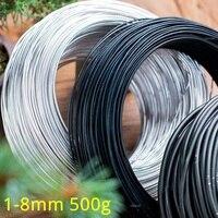 Herramientas para bonsái de 1mm-8mm, alambre para bonsái de Metal, modelado de alambre de aluminio, herramientas para huerto y jardín, forma de planta, bricolaje, 500G/rollo