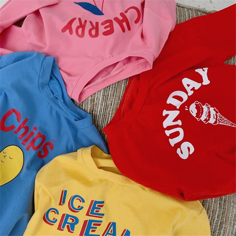 Tshirt Long-Sleeve Cherry Toddler Tops Fall Print Girls Baby Boys Child Lovely Tee Basic