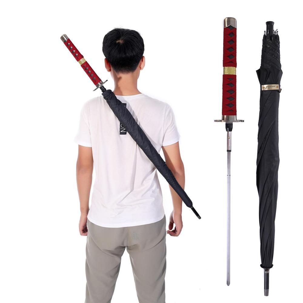 HHYUKIMI Brand Samurai Sword Long Handle Man Umbrella Windproof Business Sword Warrior Self-defense Sunny Creative Umbrella