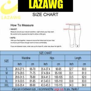 Image 5 - Lazawg Taille Trainer Broek Hot Neopreen Broek Controle Slipje Hete Zweet Running Gym Workout Panty Taille Shaper Bosy Shaper Been