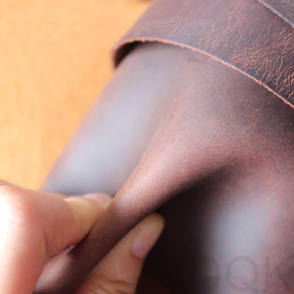 Crazy Horse Lederen Retro Vintage Lederen Boek Portemonnee Eerste Laag Lederen Diy Handgemaakte Lederen Geel Bruin, Rood Bruin