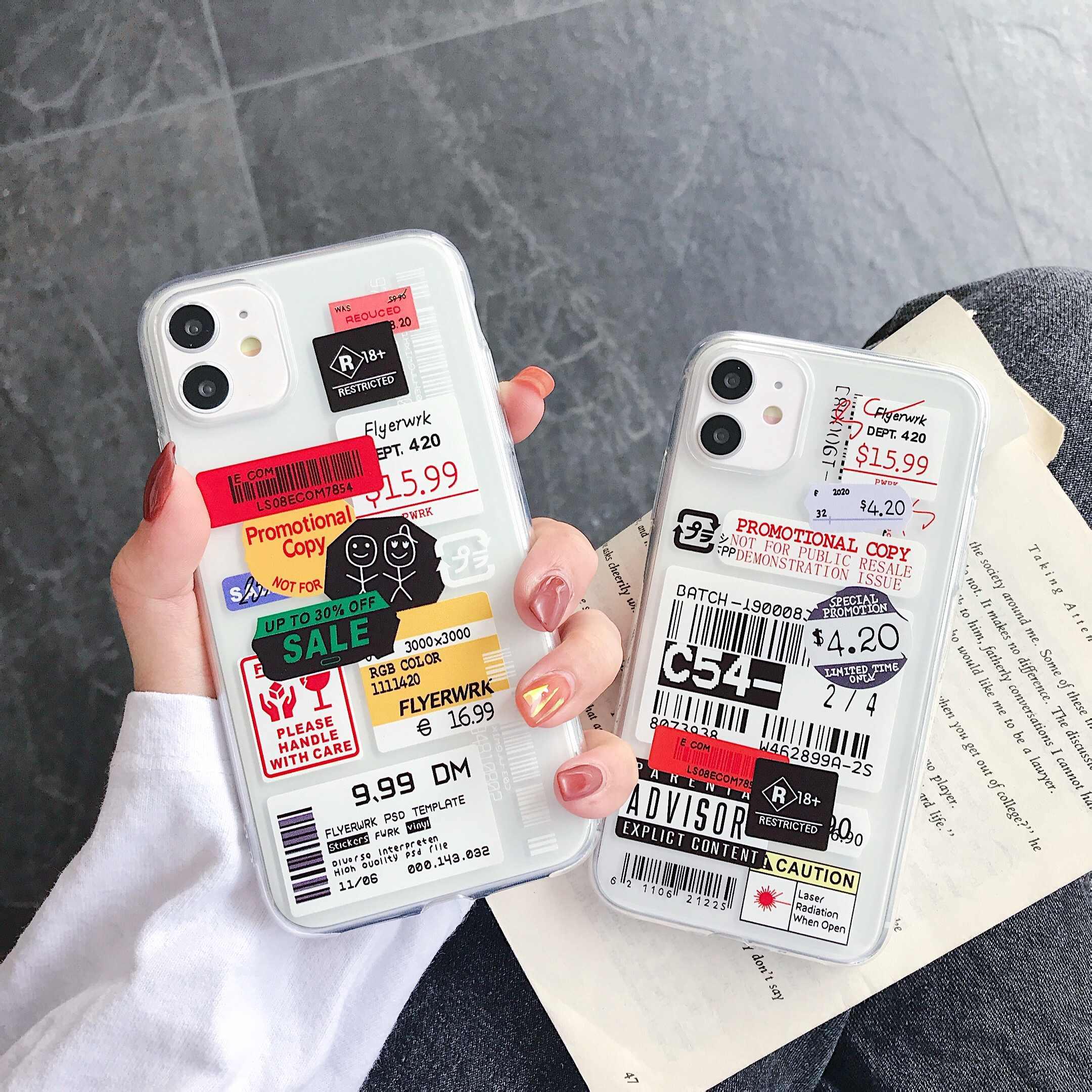 שקוף טלפון מקרה עבור Xiaomi 6X 8 9 SE לייט 10 CC9 CC9E עבור Redmi הערה 7 8 K20 פרו כיסוי מקרה רך הסיליקון ברור תווית מקרה