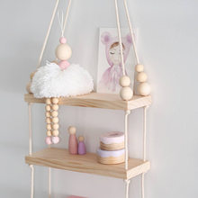 Ballet Dancer Hanging Decoration Wooden Beads Girl Room Decor Nursery Baby Tent Ornament Photography Props Nordic Style(China)