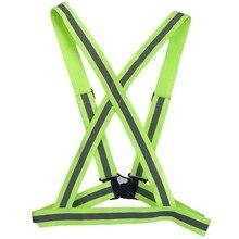 Дышащий светоотражающий защитный жилет с высокой видимостью, безопасный светоотражающий жилет для езды на велосипеде, светящийся жилет для бега в ночное время