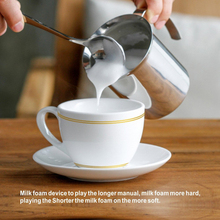Manual Milk Frother Hand Pump Creamer Double Mesh Coffee Milk Foam Frothing Pitcher Froth Foamer Cup Marker Jug Stainless Steel