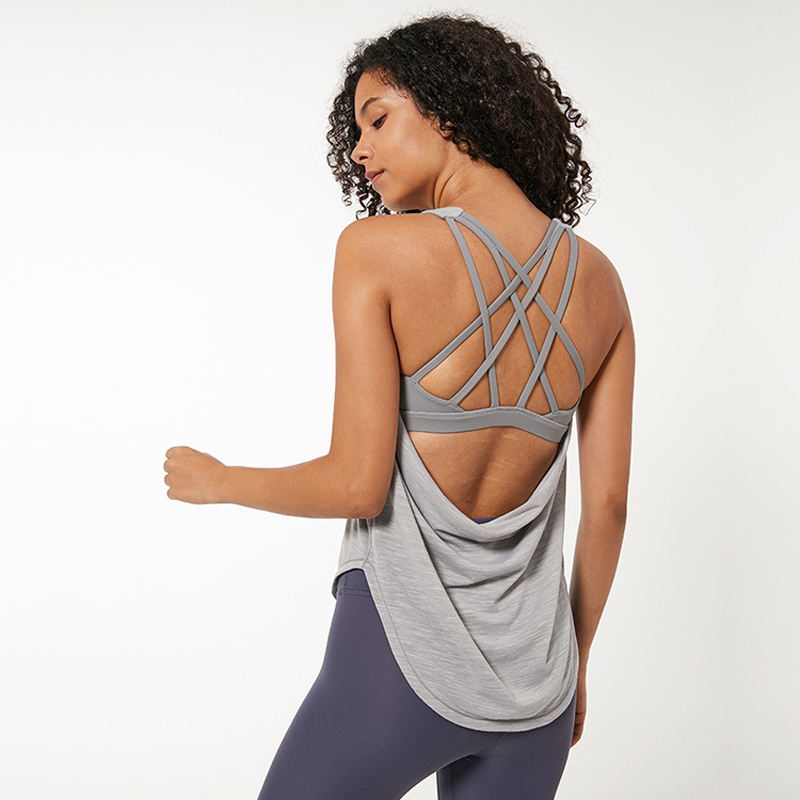 Nepoagym Women 2-in-1 Tank With Bra Loose Fit Gym Tank Top Women Workout Tops Yoga Top Womens Workout Tops