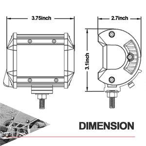 Image 3 - 18W 60W 72W 4 นิ้วไฟLEDทำงานจุดน้ำท่วมCombo Beam 12V 24VสำหรับUAZรถบรรทุก 4X4 ATV SUV UTV LEDขับรถทำงานหมอก