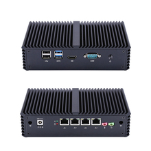 New fanless X86 4 LAN Micro Computer I5 5200U Dual core onboard.support AES NI.1080P HD Video