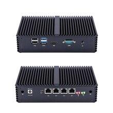 חדש fanless X86 4 LAN מיקרו מחשב I5 5200U Dual core המשולב. תמיכה AES NI.1080P HD וידאו