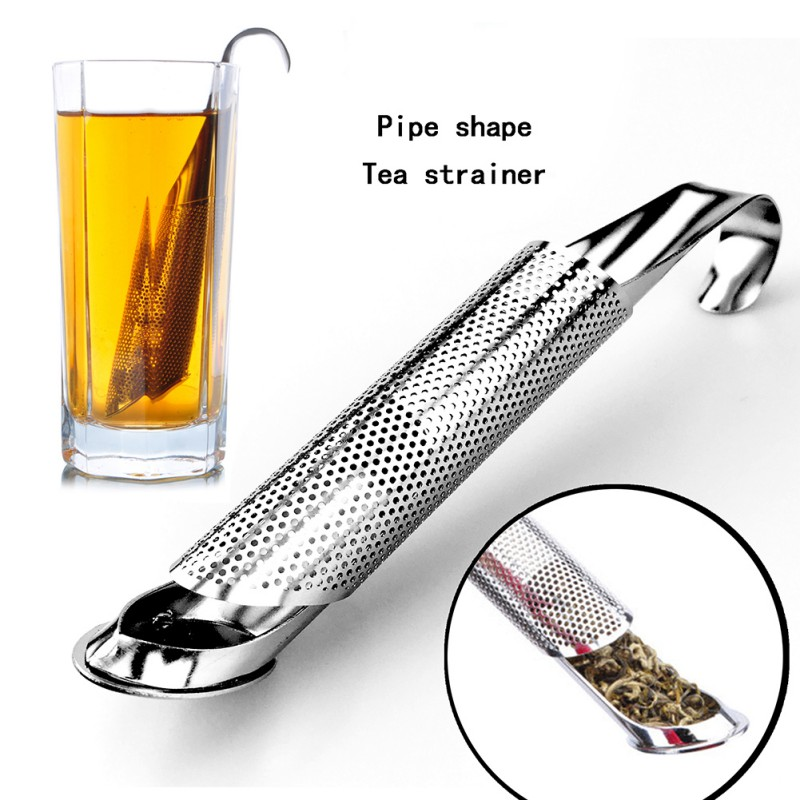 Pipe Design Strainer Amazing Tea Infuser Touch Stainless Steel Tea Tool Strainers