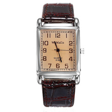 WOMAGE Watches Fashion Casual Women Rectangle Leather Band Quartz Watch Womens hodinky reloj mujer