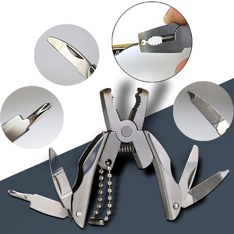 7 in One Hand Tool Stainless Multitool Fold Pocket Knife Pliers Outdoor Tools Screwdriver Mini Portable Folding Multitool Sets