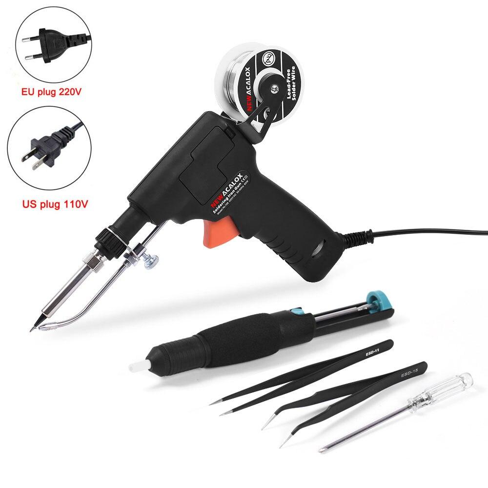 Practical In-line Electronic Repair Solder Gun 110v Welding Soldering Iron