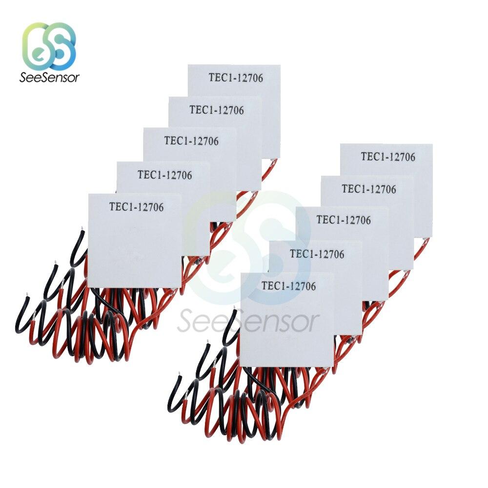 10pcs/lot TEC1-12706 TEC1 12706 12V 6A TEC Thermoelectric Cooler Peltier 40*40MM Elemente Module