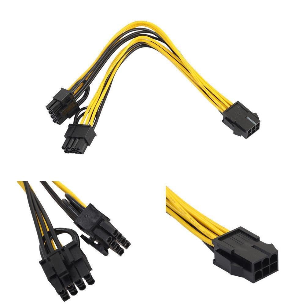 Кабель-разветвитель PCI-E 6-pin на 2x8-pin для видеокарты
