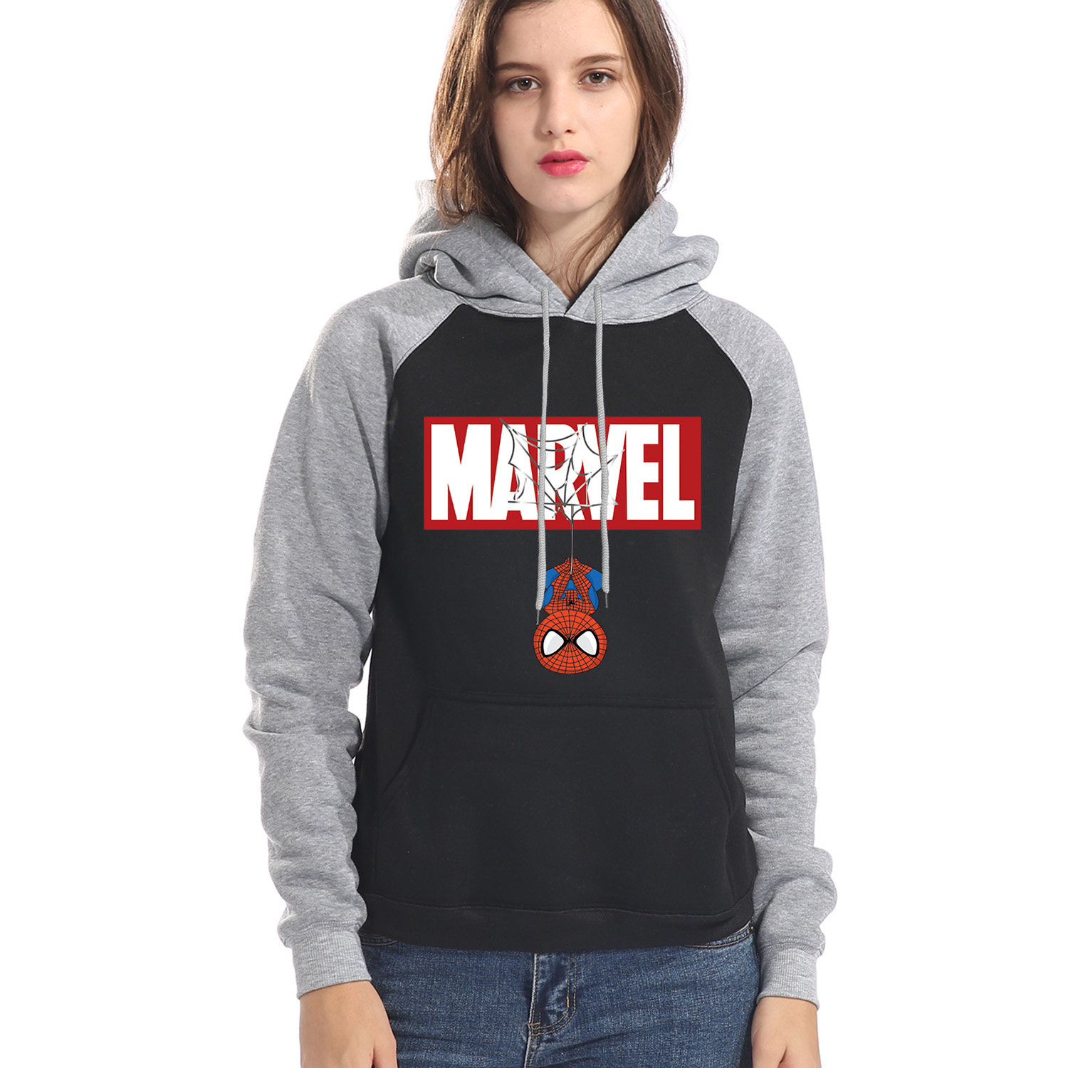 Marvel Superhero Spiderman Women Hoodies Sweatshirts Autumn Winter Warm Hoodie 2019 The Avengers Casual Hooded Pullover