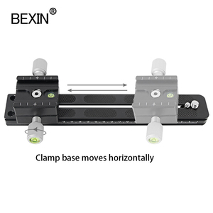 Image 4 - BEXIN Panoramic Long Telephoto Double layer Quick release plate clamp Arca Swiss camera Clamp Adapter Mount Bracket Tripod Holde