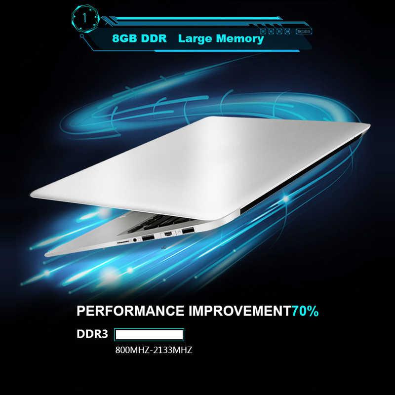 15.6 بوصة الألعاب المحمول مع 8G RAM 1 تيرا بايت 512G 256G 128G 64G SSD ROM محمول Ultrabook إنتل رباعية النواة ويندوز 10 دفتر الكمبيوتر