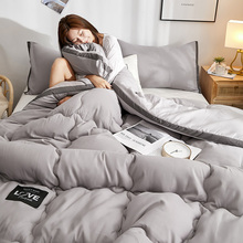 Japanese Style Winter Duvet 3D Black Side Thicken Quilts 220*240cm Home Textile Bed Sleeping Cover Soft Blankets Warm With Label