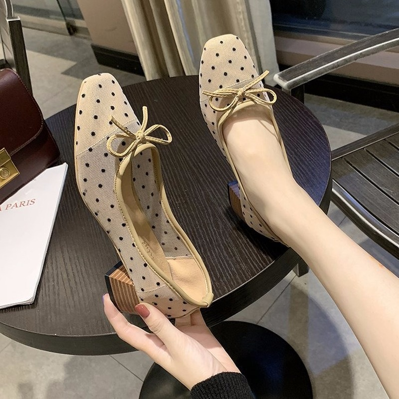 Sweet Female High Quality Office Shoes Women Spring Summer Square Heeled Dress Party Shoes Lady Pumps Shoes Stiletto C12-79