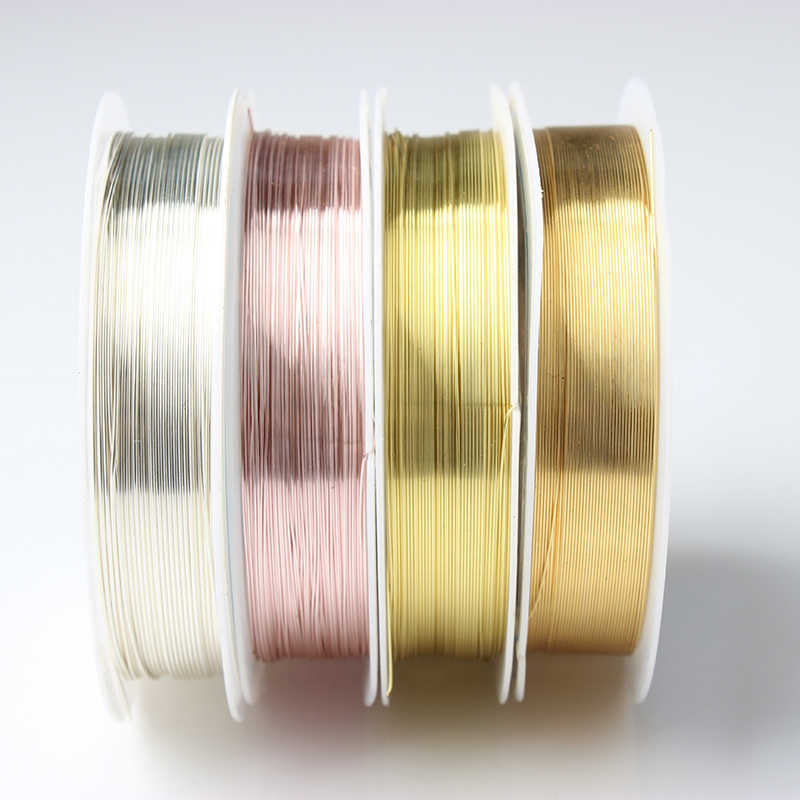 LanLi 0.2 0.3 0.4 0.5 0.6 0.8 1.0mm Color preserving copper wire thread for Jewelry Necklace Jewelry Accessories