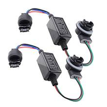 2 Stuks Waarschuwing Canceller Decoder Fix Hyper Knipperen Voor Knipperlichten Lamp Belastingsweerstand Canceller Decoder 3157 3047 3057 3457