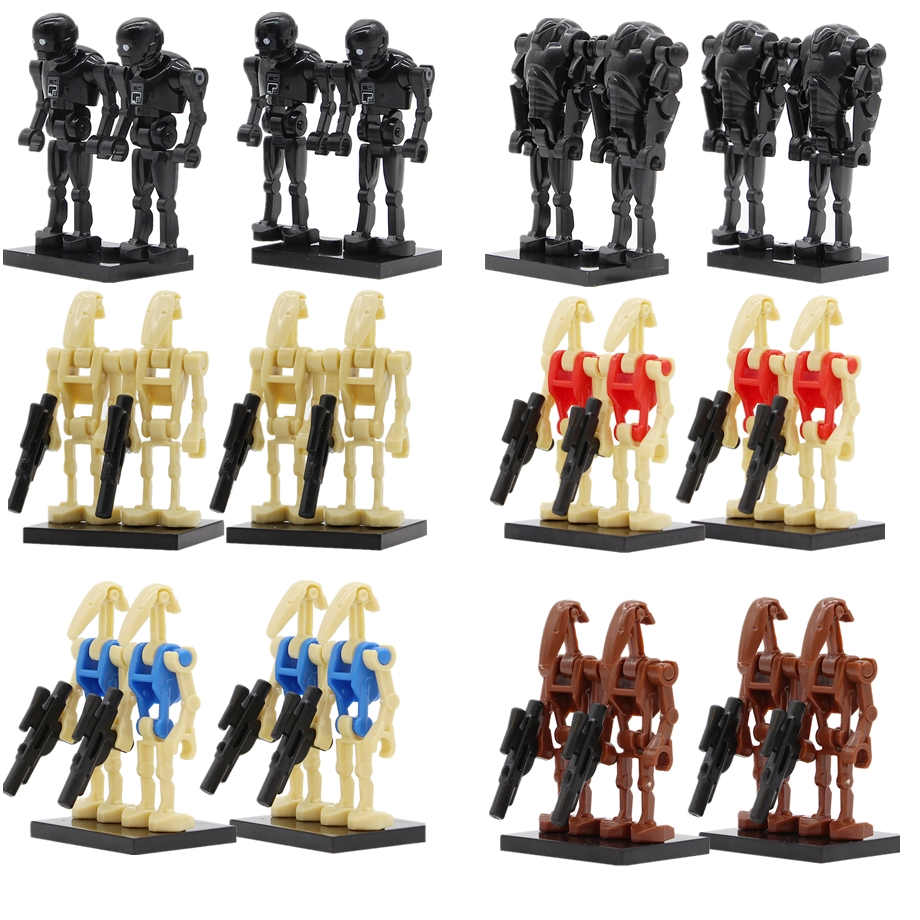 4 Star Wars Battle Droid Building Blocks Combat Robot Storm Trooper Battle Droid RO-GR K-2SO Figure Bricks Toy Compatible Legoed