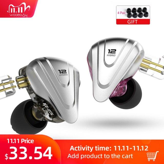 KZ ZSX Terminator Metal 5BA+1DD Hybrid HIFI In Ear Earphone 12 Drivers DJ Monitor Headphone Noise Cancelling Earbuds KZ EDX ZAX