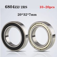 10/20Pcs Hoge Kwaliteit ABEC-1 6804 2RS 6804RS 6804-ZZ 6804 Rs 6608Z 20*32*7Mm dubbele Rubberen Afdichting Diepgroefkogellager