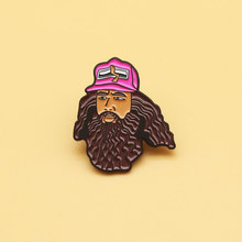Forrest Gump brooch and enamel pins Men and women fashion jewelry gifts anime movie novel lapel badges forrest gump romance drama movie peas and carrots juniors v neck t shirt tee