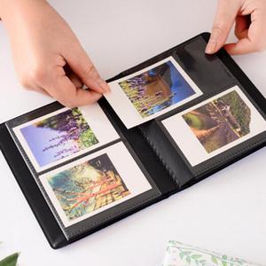 Image 4 - 3 Cal Quicksand cekiny 64 kieszenie Instax Mini Film Album fotograficzny do FujiFilm Instax Mini 8, Mini 9 7s 50 90 papier do filmów Fuji
