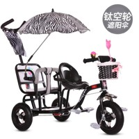 Twin Stroller Baby Carts Child Double Tricycles Baby Bicycles Twin Buggy Car Chair for Children Child Car Seat