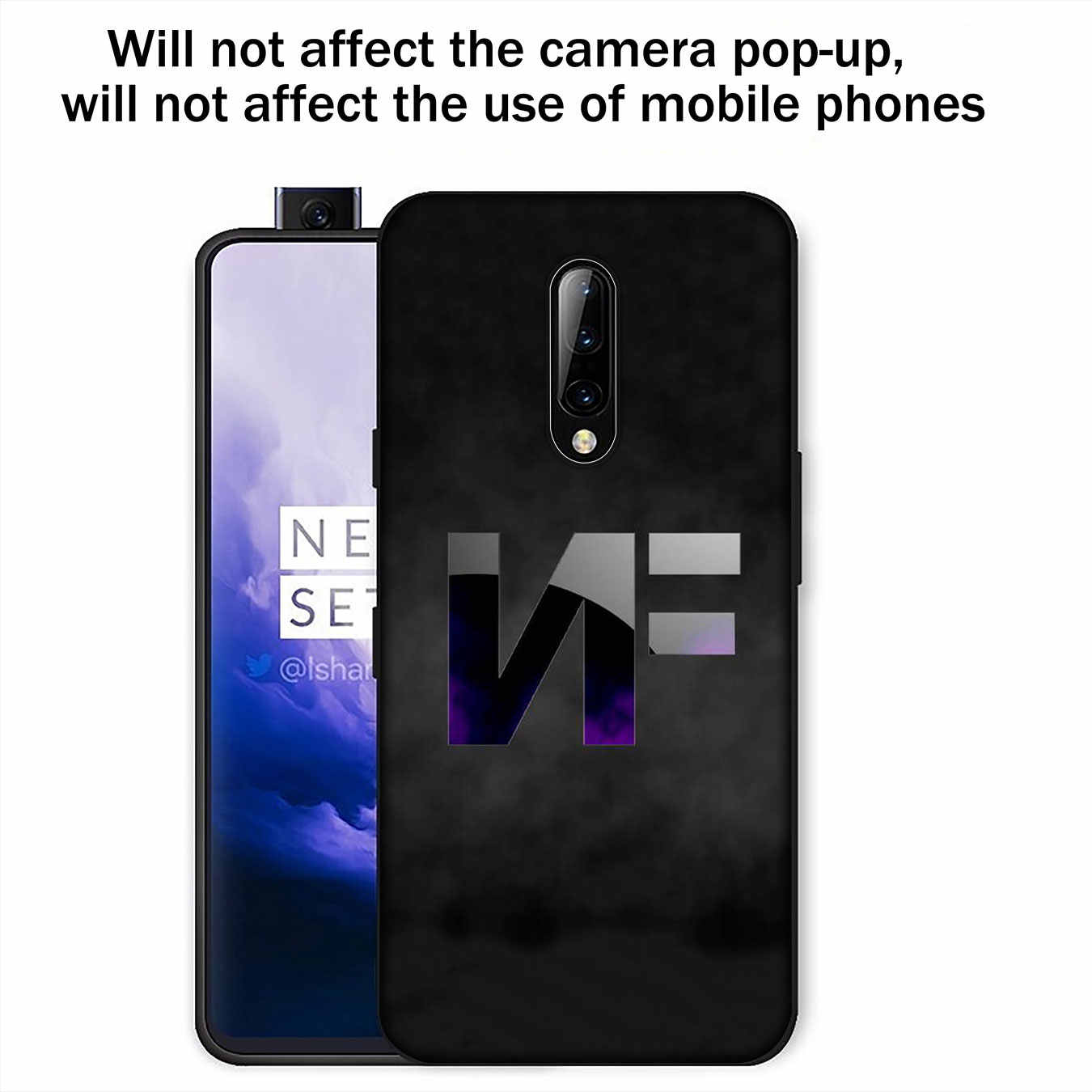 Pop NF rapero suave TPU negro silicona teléfono caso para OnePlus 7T 7 Pro 6 6T 5 5T One Plus 7Pro cubierta