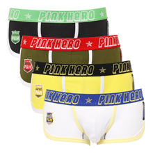 So Cool Pink Heroes High Quality Cotton Underwear Men Boxer Shorts Fashion Male Underpants Sexy Men panties 4pcs\Lot