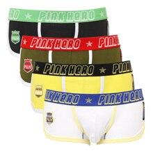 So Cool Rosa Heroes Hohe Qualität Baumwolle Unterwäsche Männer Boxer Shorts Mode Männlichen Unterhose Sexy Männer höschen 4 stücke