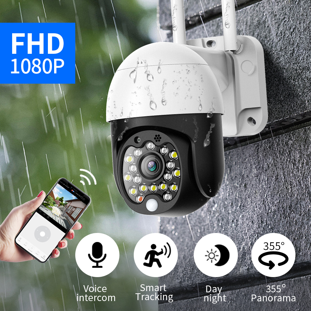 SDETER Security WIFI Camera Outdoor 1080P PTZ Speed Dome Wireless IP Camera CCTV Pan Tilt 4X Zoom Audio IR Surveillance P2P CAM