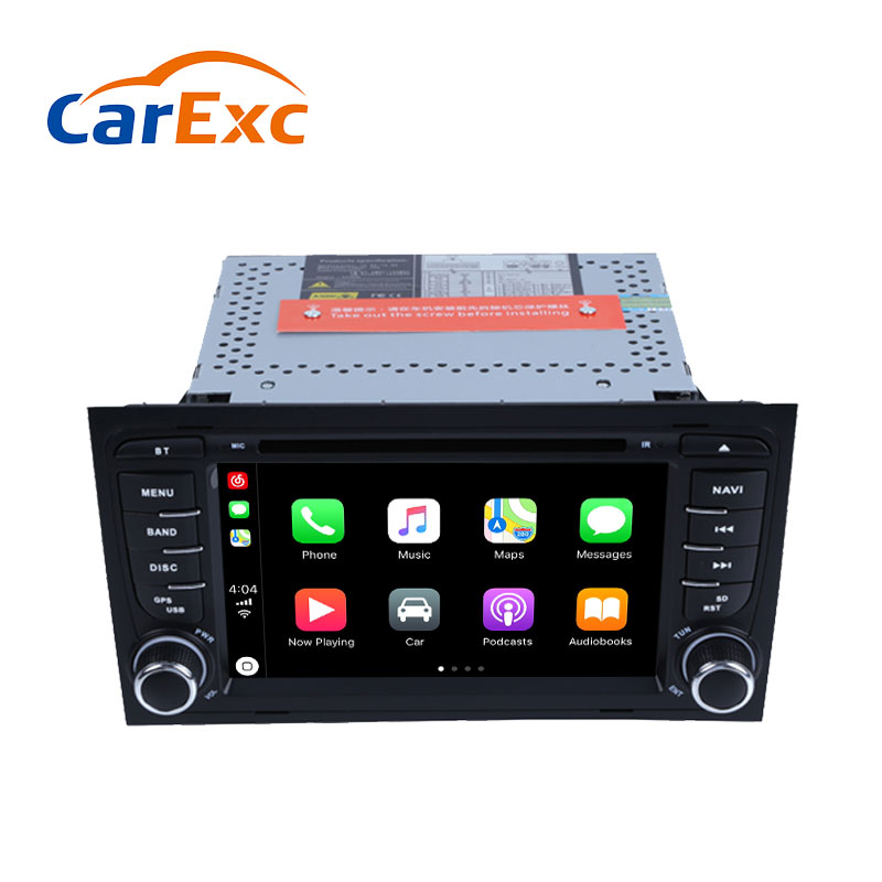 Autoradio With CarPlay For Audi A4 B6 B7 S4 RS4 2002 2008 Seat Exeo Android 9.0 OS Car DVD GPS Navigation Multimedia Unit|Vehicle GPS| |  - title=