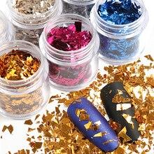 Нестандартные Блестки для ногтей бутылка из 12 видов фрагментов