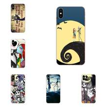 Nightmare Before Christmas Jack En Sally Voor LG G2 G3 G4 G5 G6 G7 K4 K7 K8 K10 K12 K40 mini Plus Stylus ThinQ 2016 2017 2018(China)