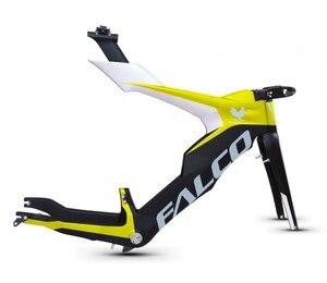 Falco Full Carbon Tt Bike Frame, Hoge Kwaliteit T700 Carbon Tijdrit Fiets Frame, full Carbon Frame Met 105 Mm Stuurpen
