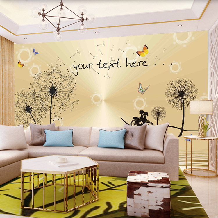 Customizable Minimalist Modern Wallpaper Dandelion Wall Cloth TV Backdrop Living Room Bedroom Sofa TV Wall Mural