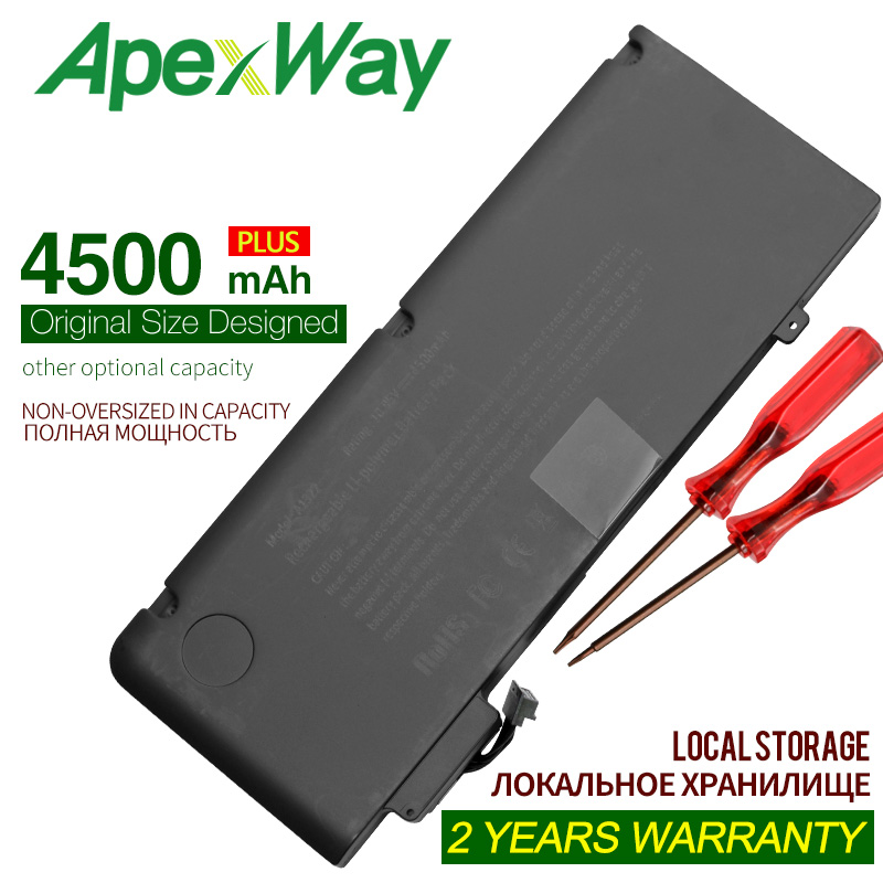 ApexWay 10.95V 4500mAh A1322 Battery For  Macbook Pro 13
