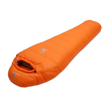 Very Warm White Goose down filled Adult Mummy style Sleeping bag Fit for Winter Thermal 4 kinds of thickness Camping Travel 3