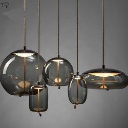 Nordic Brokis Knoop Glas Hanglampen Minimalistische Led Opknoping Lamp Ontwerp Restaurant Woonkamer Slaapkamer Bed Thuis Armatuur