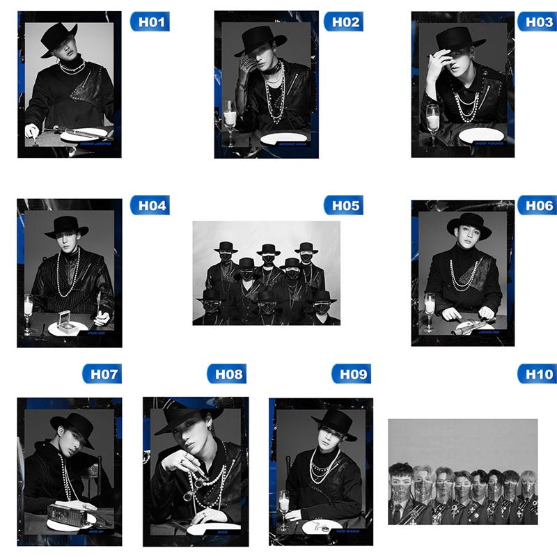K POP band Ateez new Album Action To Answer Music Posters Wall Prints white coated Papers